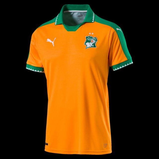 Puma - Maillot domicile Côte d Ivoire 2016 2017 orange vert - XL ... 6a860868d0bc
