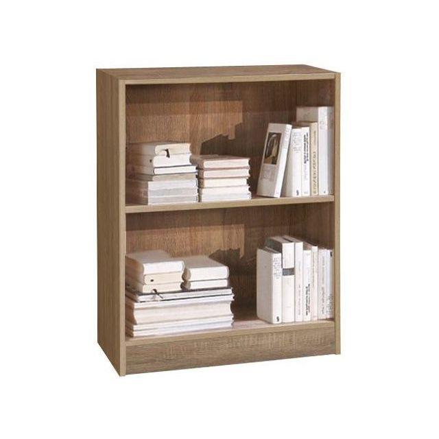 comforium biblioth que 60 cm avec 1 tag re coloris sonoma clair c godinez pas cher achat. Black Bedroom Furniture Sets. Home Design Ideas