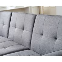 Canapé 4 places modulable convertible - Nora - gris clair
