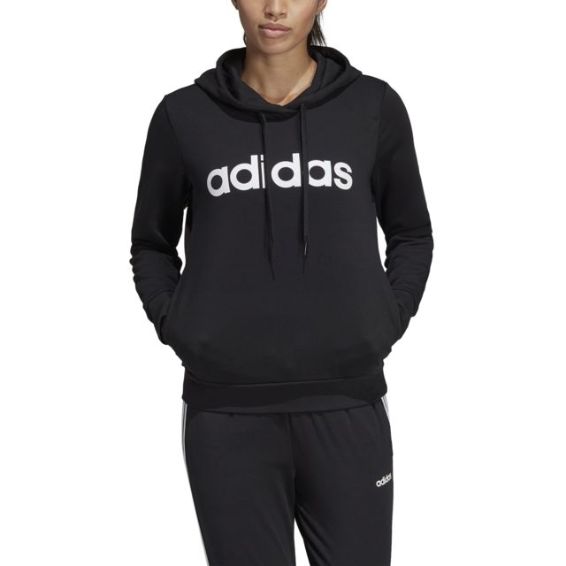 Adidas Sweat à capuche femme Essentials Linear pas cher