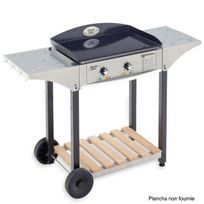 ROLLER GRILL - desserte inox et bois pour plancha 600 - chps600