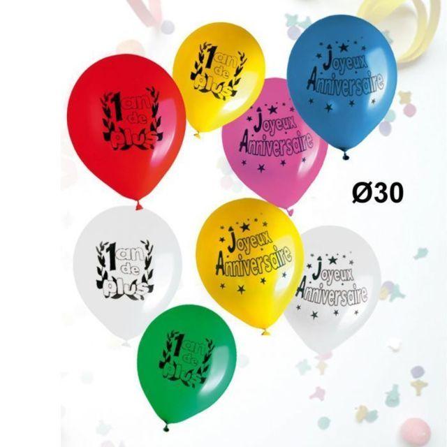 28cm Sachet de 8 Ballons Imprim/é Vive Les mari/és Coloris Marron