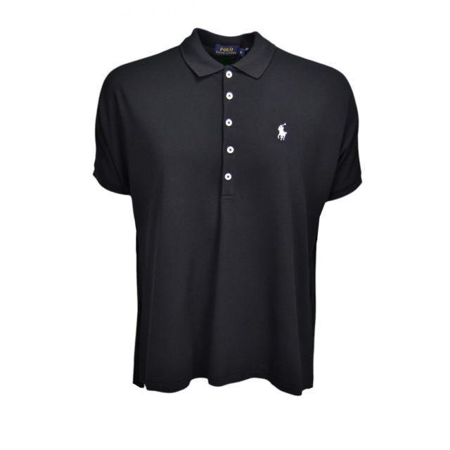 Ralph Lauren - Polo ample noir pour femme - pas cher Achat   Vente Polo  femme - RueDuCommerce a5c1ea0cba1