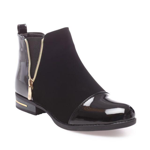 Top Boots vernies femme - Achat/Vente Boots vernies femme Pas Cher  LB32