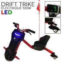 Jm Motors - Drift trike Tricycle electrique 120w Led rouge