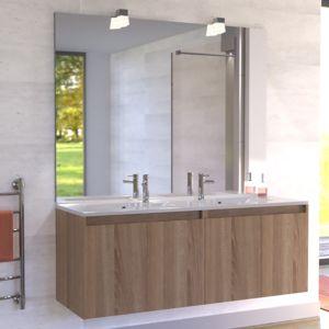 CREAZUR Meuble salle de bain double vasque PROLINE 140