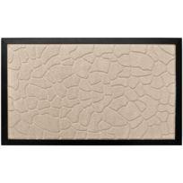 Promobo - Paillasson Beige Tapis Entrée Luxe Antidérapant Caoutchouc Relief Galet Beige 45 x 75cm