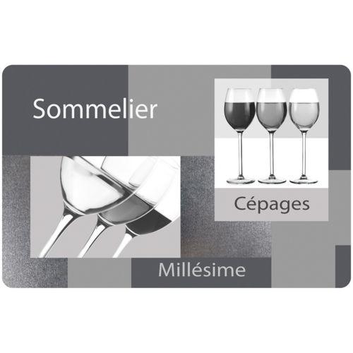 Promobo - Set De Table Transparent Design Bistrot Grand Cru ...