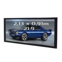 Kimex - Ecran de projection sur cadre 2,13 x 0,91m, format 21:9