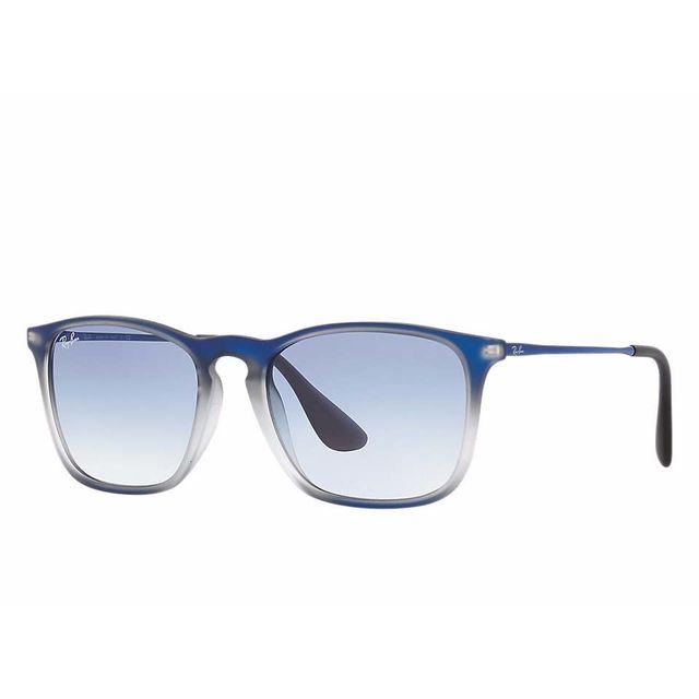 826fca05074709 Ray-Ban - Lunette de soleil Chris Rb 4187 622519 Noir irisé bleu - pas cher  Achat   Vente Lunettes Aviateur - RueDuCommerce