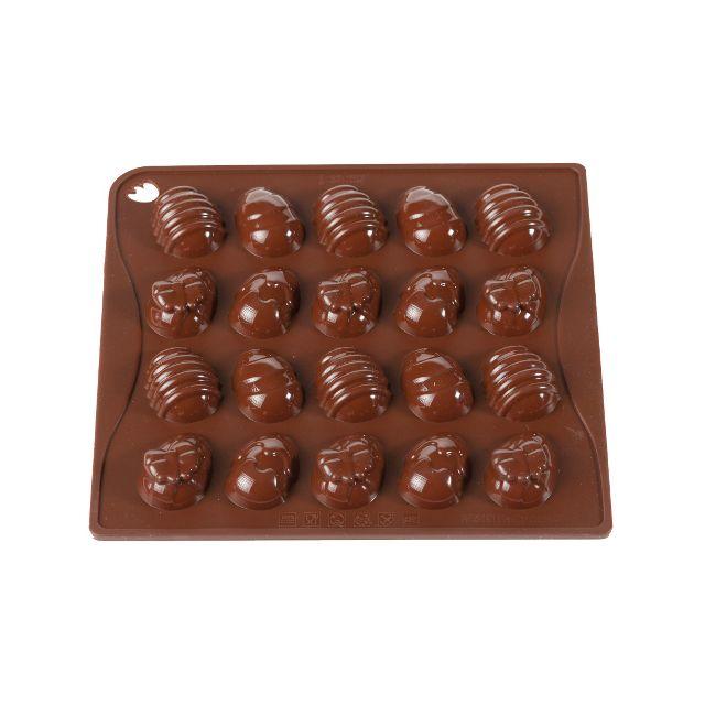 Pavoni Moule à chocolat silicone oeufs de Pâques