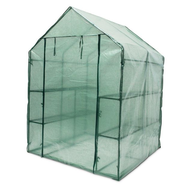 Helloshop26 Serre de jardin métal 140 x 190 x 140 cm 2 m2 jardinage plante 1613012