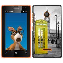 Kabiloo - Coque pour Nokia Lumia 435 impression Motif cabine téléphonique Uk jaune