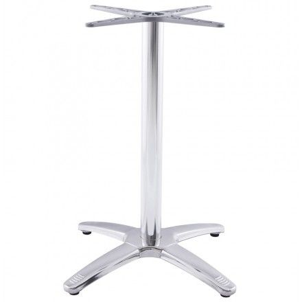 TECHNEB Pied de table AUTAN forme croix en métal chromé 63cmX63cmX74cm, aluminium