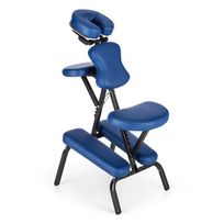 MS 300 Siège chaise massage tatouage acier 120kg Sac transport ? bleu
