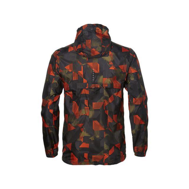 Asics Fuzex Packable Jacket Noire Et Rouge Veste Running