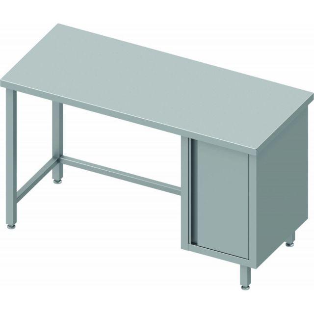 Materiel Chr Pro Table Inox Avec 1 Porte Sans Dosseret - Profondeur 600 - Stalgast - inox 800x600 600