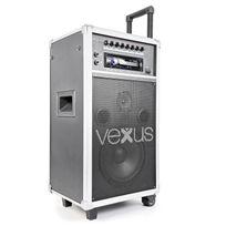 """VEXUS - ST110 Système de sonorisation portatif 20cm 8 """", CD SD USB MP3"""