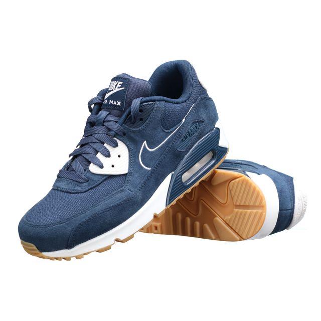 008e4394635567 Nike - Basket Air Max 90 Premium 700155-403 Marine - pas cher Achat   Vente  Baskets homme - RueDuCommerce
