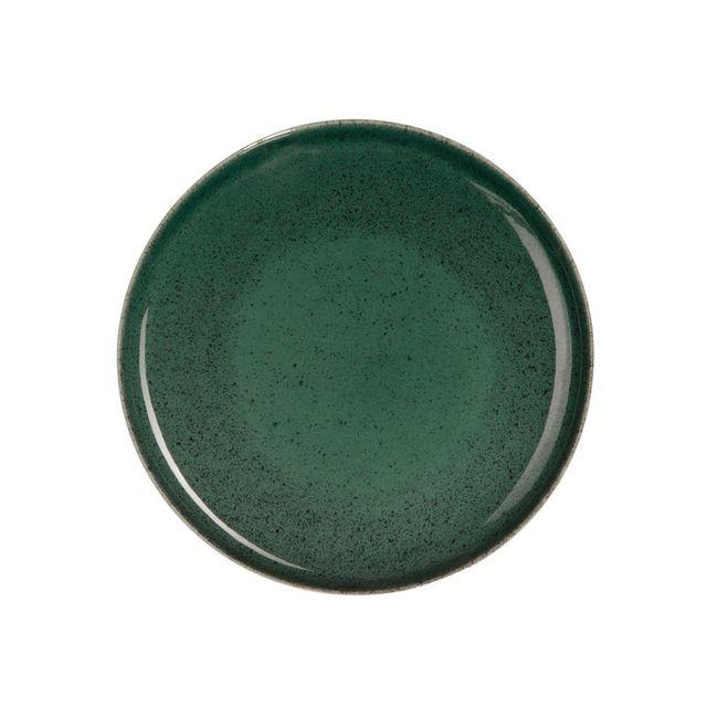 Asa - Assiette à dessert en grès D.21 cm vert - Lot de 6 Saisons Algo