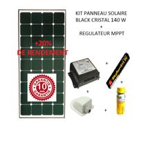 Antarion - Kit panneau solaire 140w pour camping car Black booster