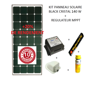 antarion kit panneau solaire 140w pour camping car black. Black Bedroom Furniture Sets. Home Design Ideas