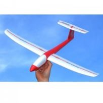MULTIPLEX - Mini planeur Solius couleur blanc et rouge