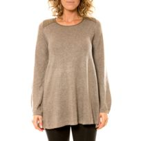 Visiondereve - Vision de Rêve Pull 12007 Taupe