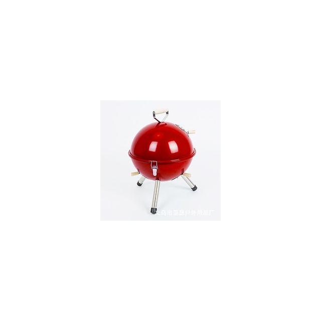 Alpexe Barbecue exterieur rouge trepied petit