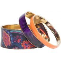 Desigual Bijoux - Bracelet Desigual Norway 67G55B7-2000 Negro - Bracelet Trio Progressif Femme