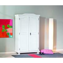 Kalitat - armoire 2 portes - pin massif teinté blanc