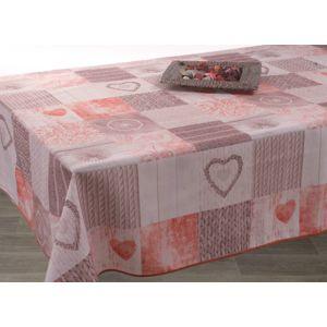 le linge de jules nappe anti taches ficello rouge taille rectangle 150x200 cm pas cher. Black Bedroom Furniture Sets. Home Design Ideas