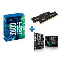 INTEL - Processeur Core i5-7600K 3.80GHz LGA1151 - KABYLAKE + HyperX Fury Black Series 16 Go 2 x 8 Go DDR4 2666MHz Cas 15 + Carte mère ASUS STRIX Z270H GAMING Socket 1151 - Chipset Z270 Kabylake