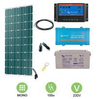 Victron - Kit solaire 100w autonome mono + convertisseur 230v
