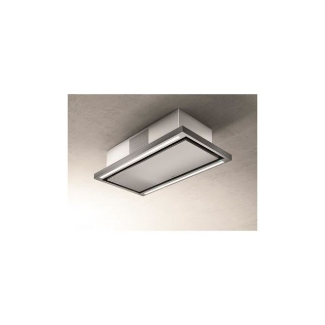 Elica Hotte De Plafond Prf0141953 Cloud Seven Ix / F / 90 - Recyclage - 760 M3 Air / H Max - 3 Vitesses - L 90 Cm - Inox