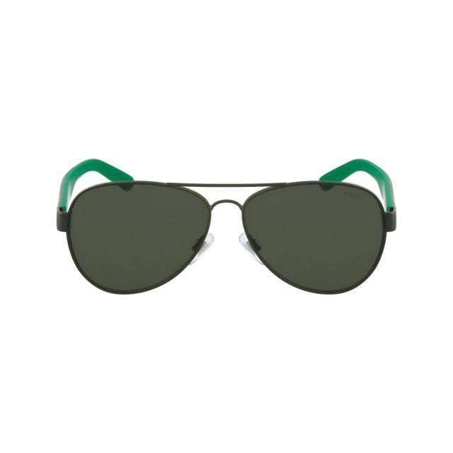 Polo Ralph Lauren - Ph3096 9005 71 Kaki - Kaki havane - Lunettes de soleil  - pas cher Achat   Vente Lunettes Aviateur - RueDuCommerce e895ff87e3cc