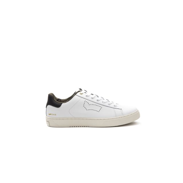 Gas Sneakers homme Gam814020 Blanc pas cher Achat