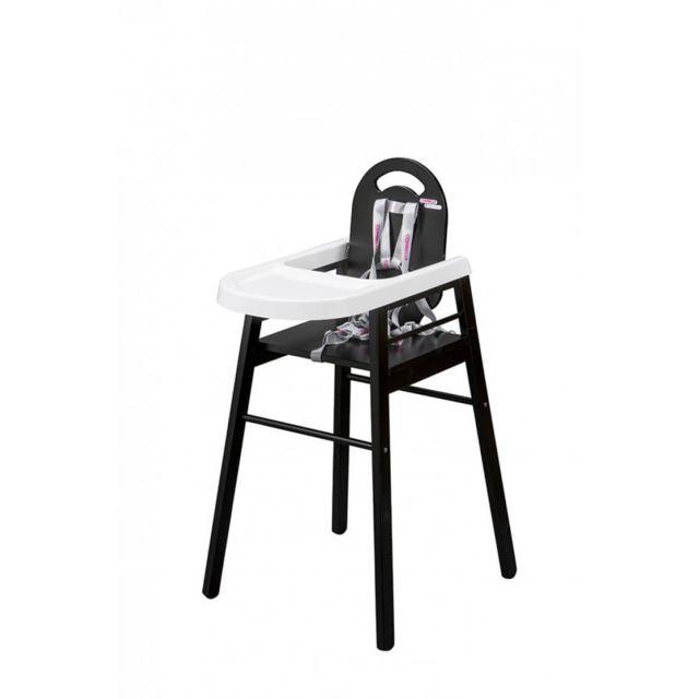 Combelle chaise haute lili laqu noir pas cher achat vente chaises hautes rueducommerce - Chaise haute lili combelle ...