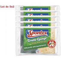 Spontex - 10 éponges grattantes Gratte-Eponge Stop-Bactéries