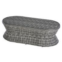 Soldes Table jardin ovale aluminium - Achat Table jardin ovale ...