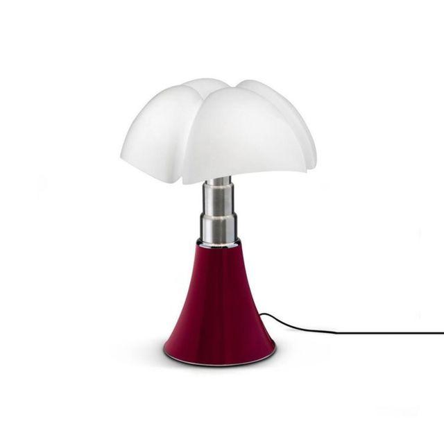 Martinelli Luce Mini Pipistrello-lampe Dimmer Touch Led H35cm Rouge - designé par Gae Aulenti