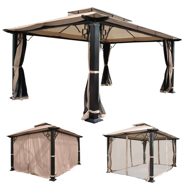 mendler pergola mira pavillon de jardin cadre stable. Black Bedroom Furniture Sets. Home Design Ideas