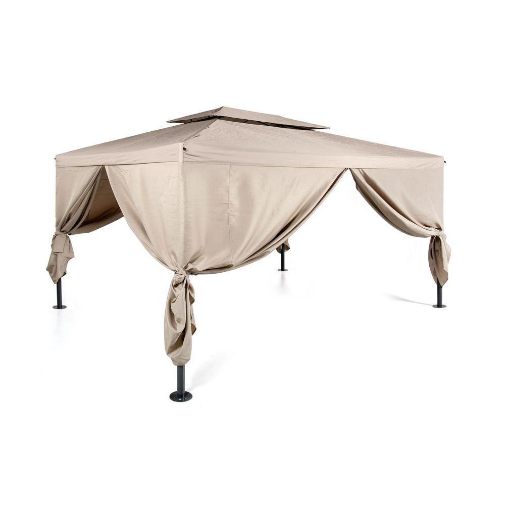 alin a sorne pergola autoportante avec rideaux pas cher achat vente pergola rueducommerce. Black Bedroom Furniture Sets. Home Design Ideas