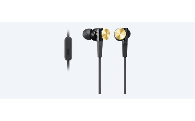 SONY - Ecouteurs avec télécommande intra-auriculaire MDR XB70AP Marron