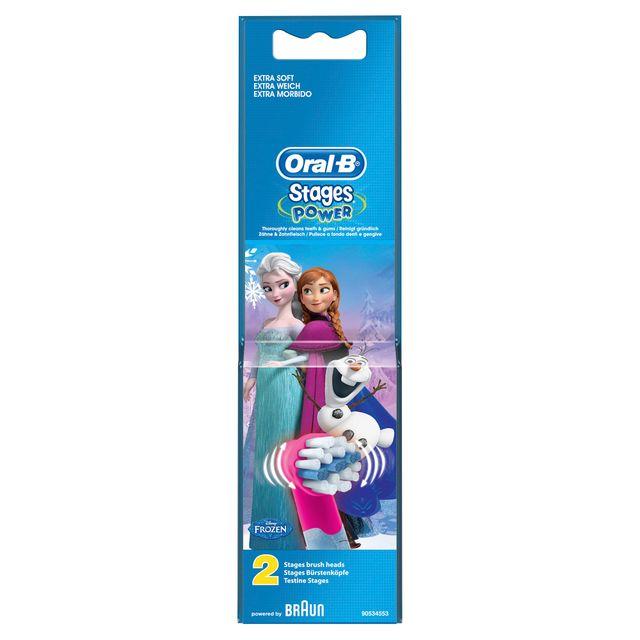 ORAL-B Stages Power Brossettes de rechange avec les personnages de La Reine des Neiges x 2