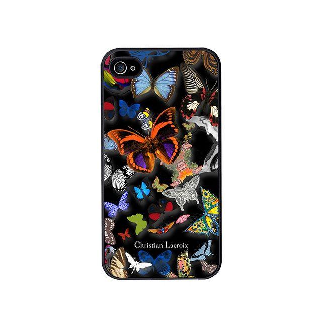 christian lacroix coque butterfly parade de couleur oscuro pour iphone 4 pas cher achat. Black Bedroom Furniture Sets. Home Design Ideas