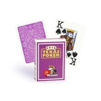 Modiano - Cartes Texas Poker 100% plastique mauve
