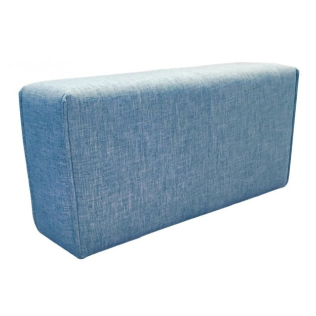 MEUBLETMOI Accoudoir bleu - module pour canapé MODULO