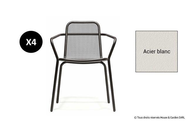 Todus - Fauteuil De Jardin Design Industriel En Inox - Starling ...