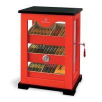 Egoist - Cave à cigares vitrine 190 cigares laqué rouge